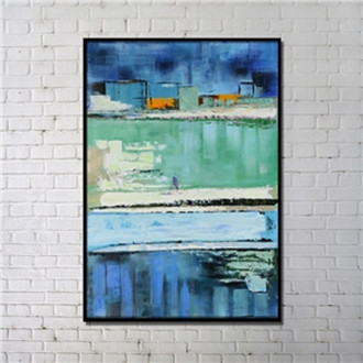 Contemporary Wall Art Water Abstract Print with Black Frame 32