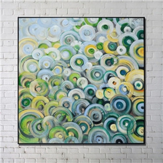 Contemporary Wall Art Whorls Abstract Wall Print with Black Frame 40