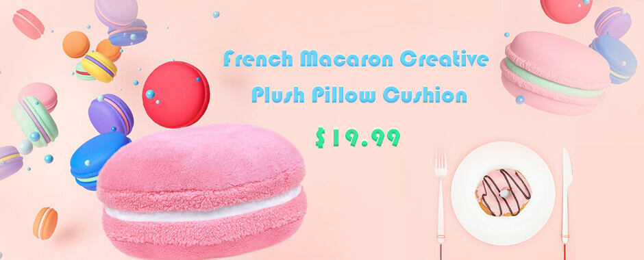 Macaron Candy Color Pillow