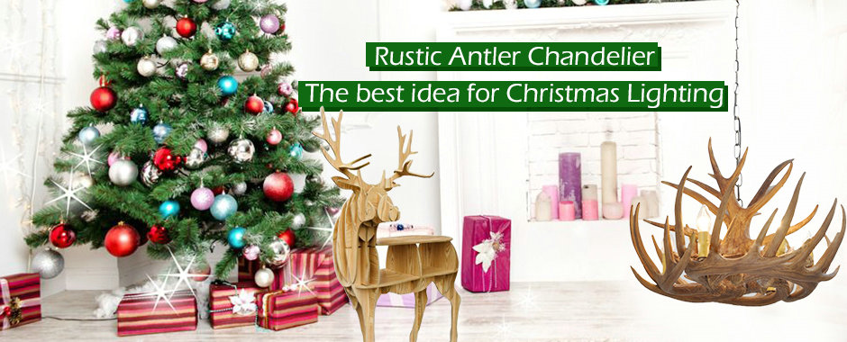 Christmas Antler Chandelier