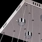 Modern Chic Stainless Steel Plating LED Crystal Pendant Light  5 Lights